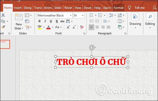 Изображение 4 из Как создать кроссворд в PowerPoint