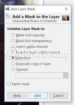gimp invert layer mask
