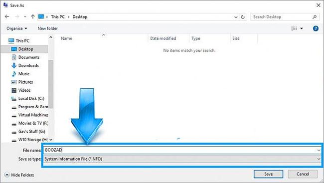 Cách Tạo Tệp Thông Tin Hệ Thống Trên Windows 10 - AN PHÁT