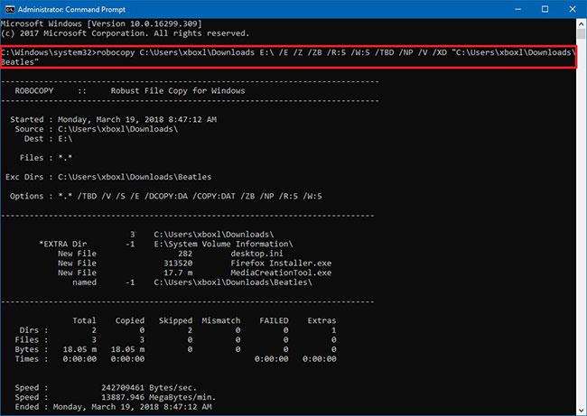 Cách Loại Trừ Tệp Và Thư Mục Bằng Robocopy Trong Windows 10 - VERA STAR