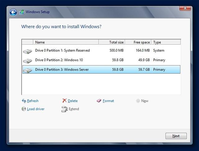 Hướng dẫn thiết đặt phát động Kép window 10 Và hđh win Server