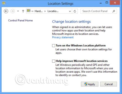 Turn Off Location Sensing On Windows 7