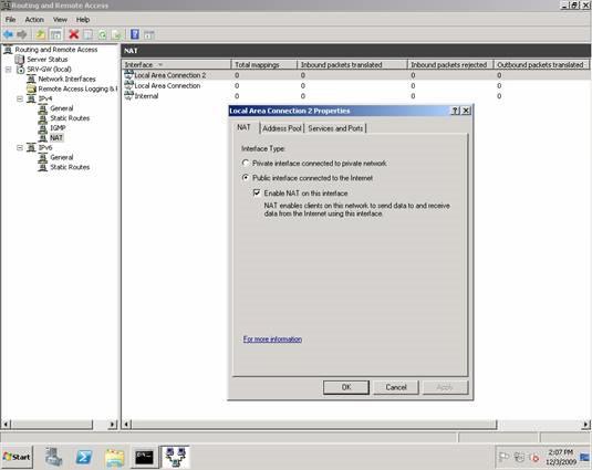 Using Windows Server 2008 System Like Router Nat