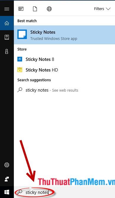 Create Sticky Note Notes On The Windows 10 Desktop