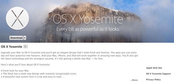 Os X Yosemite For Mac Download