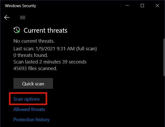 Hướng dẫn Quét ViRus Trên Toàn Hệ Thống hệ điều hành win 10 Bằng Microsoft Defender
